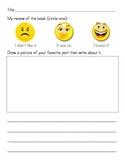 Primary Literacy Center Listening Response Sheet