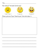 Primary Literacy Center Listening Response Sheet