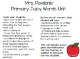 Primary Literacy Juicy Words Unit (Ontario Curriculum Writ