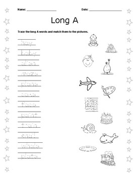 Primary Long Vowel Sounds