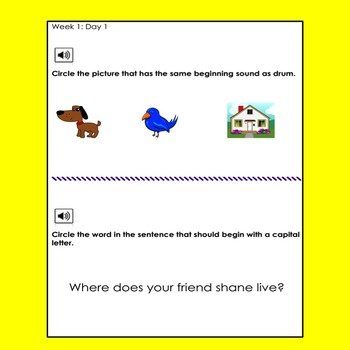 NWEA Primary MAP Problem of the Day