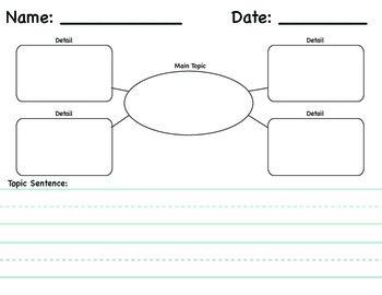 Primary Main Topic & Key Details Graphic Organizer