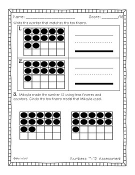 Primary Math Assessments: Numbers 11-20