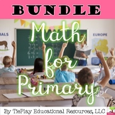 Bundle Primary Math Graph Add Subtract Fractions Hours Half Hours Time Centers