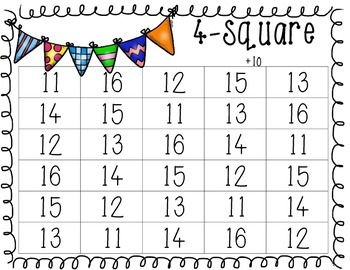 {Primary} Math Center Games