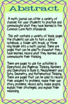 Primary Math Journal