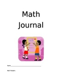 Primary Math Journal template pages