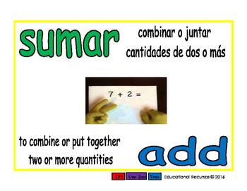 Primary Math/Matematicas por primaria 1-way blue/verde