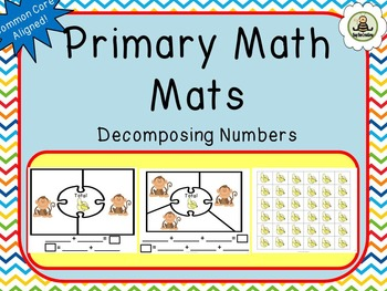 Primary Math Mats - Decomposing Numbers