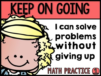 """Primary Math Practice """"I Can"""" Statement Posters"""
