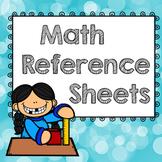 Math Reference Sheets, Homeworker Help, Interactive Binder