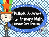 Addition Activities Multiple Answers