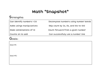 "Primary Math ""Snap shot"""