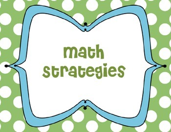 Primary Math Strategies-Green Polka Background