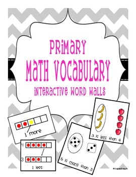 Primary Math Vocabulary Visual Cards