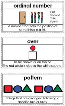 Primary Math Vocabulary Word Wall Set - Large Set #1