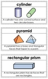 Primary Math Vocabulary Word Wall / Words Set (2D/3D Shapes / Basic Vocabulary)