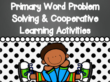 Editable Primary Math Word Problems Task Cards & Cooperative Learning Activities
