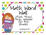 Primary Math Word Wall