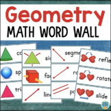 Geometry Word Wall - Math Vocabulary