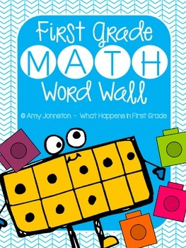 Primary Math Word Wall Vocabulary Cards