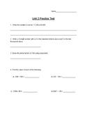Singapore / Primary Mathematics Grade 5 Unit 2 Practice Te