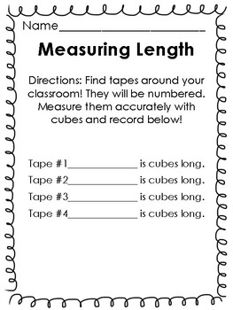 Measurement Centers! {Weight, Length, Capacity}