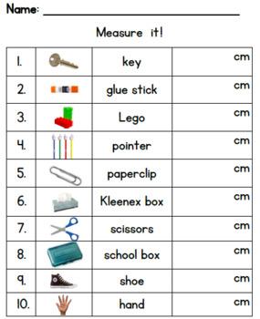 Primary Measurement Centimeters