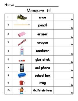 Primary Measurement Inches
