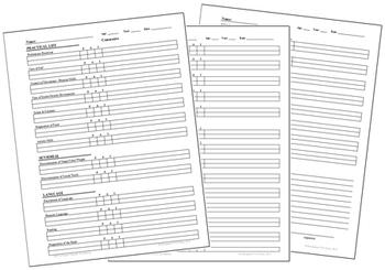 Primary Montessori Parent-Teacher Conference Form