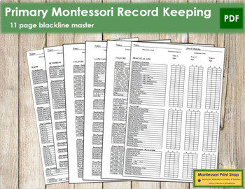 Primary Montessori Record Keeping