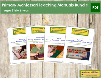 Primary Montessori Teaching Manuals Bundle