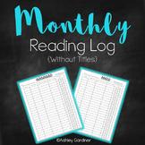 Kindergarten Reading Log Monthly {Reading Log for Kindergarten}