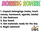 Primary Morning Routine Poster