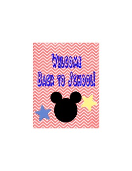Primary Mouse Inspired Back To School Postcard