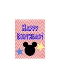 Primary Mouse Inspired Happy Birthday Postcard