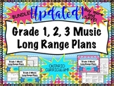 Primary Music Long Range Plans Bundle Gr 1-3 (Ontario Curriculum Based)