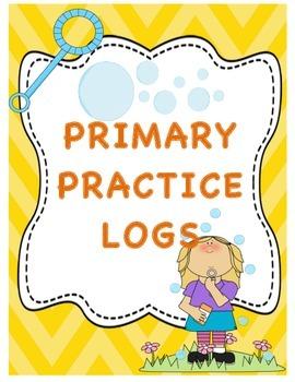Primary Music Practice Logs Set of Four, Seasons Theme