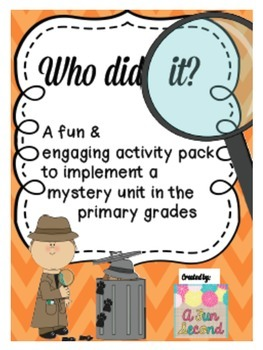 Primary Mystery Unit - Activities & Printables