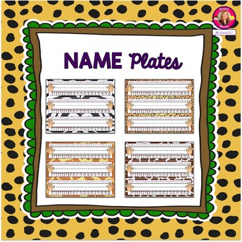 Primary Name Plates {Jungle-Safari Themed}