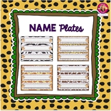 Primary Name Plates {Jungle-Safari Themed}
