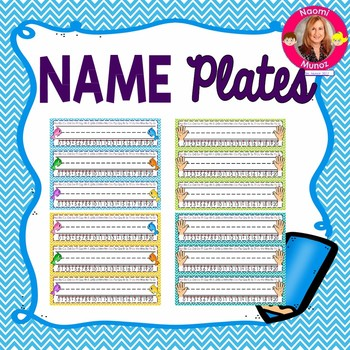Primary Name Plates {Ocean Themed}