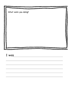 Primary Narrative Booklet Template - Great 4 ELLs