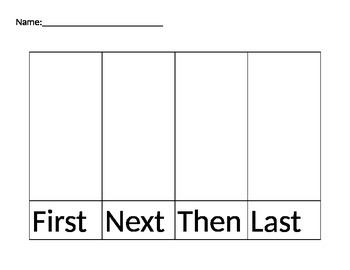 Primary Narrative Organizer