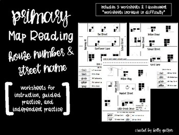 Neighborhood Map Practice - House Numbers & Street Names