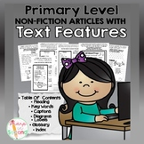 Primary Non-Fiction Text Features