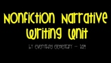 Primary Nonfiction Narrative Writing Unit for the SmartBoard