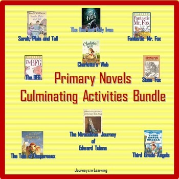 Primary Novels Culminating Activities Bundle