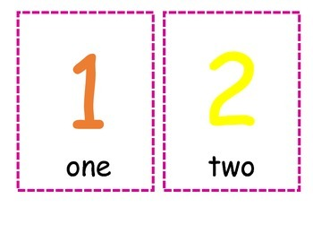 Primary Number Cards