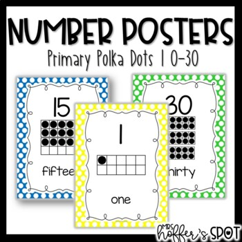 Number Posters with Ten Frames {Primary}